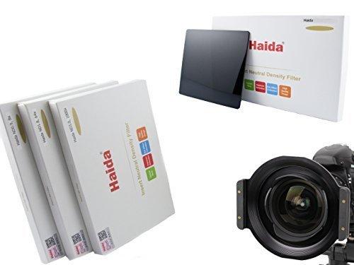 Porte-filtre de haute qualité en métal marque HAIDA pour 150 série plug-in filtre pour le Tokina AT-X 16-28mm f/2.8 Pro FX et l'appariement Ensemble de Haida Optique composé de trois filtres ND différents de la taille de 150 mm x 150 mm - ND0.9 (8x) / ND1.8 (64x) / ND3.0 (1000x)