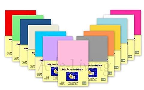 Kinder Jersey Spannbetttuch / Spannbettlaken 70x140 verschiedene Farben (weiß / white)