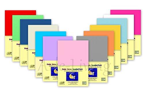 Doppelpack Kinder Jersey Spannbetttuch / Spannbettlaken 2x Rosa 70x140 100% Baumwolle Rundumgummi