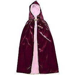 Capa para Disfraz Lady Kate borgoña Talla L (6-8 años)