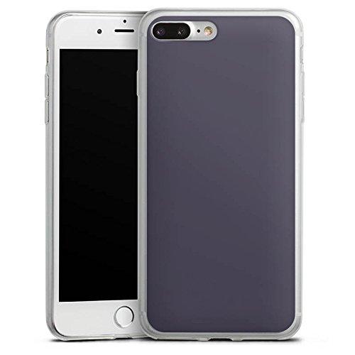 Apple iPhone 8 Plus Slim Case Silikon Hülle Schutzhülle Dunkelgrau Grau Grey Silikon Slim Case transparent