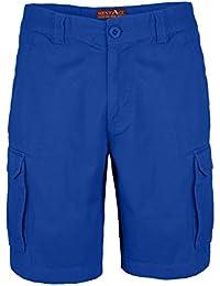 40ddffc15c9d Herren Cargo Combat Shorts 100% Baumwolle Bermuda Kurz Hose Regular Fit