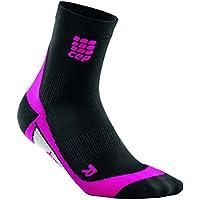 CEP - DYNAMIC+ SHORT SOCKS, Laufsocken kurz für Damen, schwarz / pink in Größe II, Sportsocken made by medi, Made in Germany