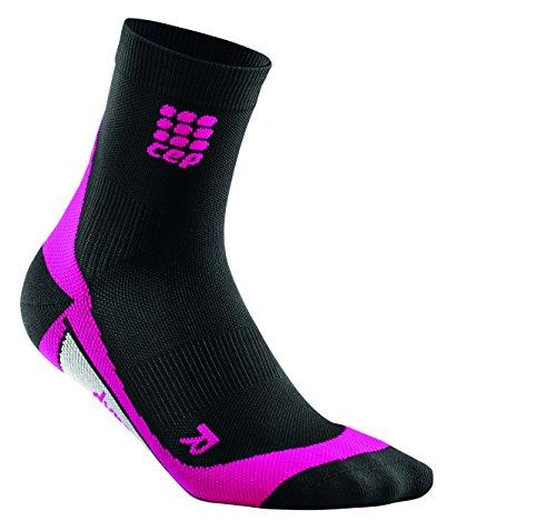 CEP Dynamic+ Short Socks Chaussettes Wmn Blanc Noir Noir - Noir