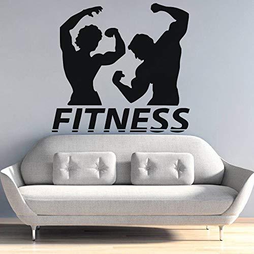 zqyjhkou Fitness Wandtattoo Sport Gym Wandaufkleber Fitness Club Wandbilder Schlafzimmer Dekoration Abnehmbare Vinyl Aufkleber Ay1140 42x39 cm