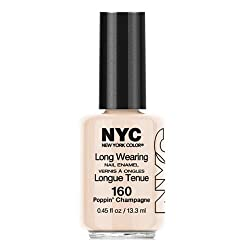 (3 Pack) NYC Long Wearing Nail Enamel - Poppin Champagne