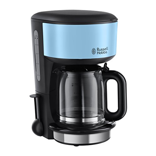 Russell Hobbs 20136-56 Glas-Kaffeemaschine Colours Plus+ Heavenly Blue, 1.25l,...