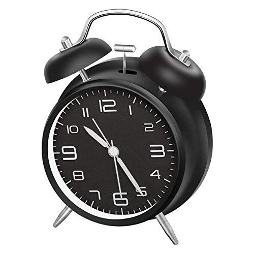 LATEC Reloj Despertador de Doble Campana con luz Nocturna, Gran Esfera de 4 Pulgadas, batería de Reloj...