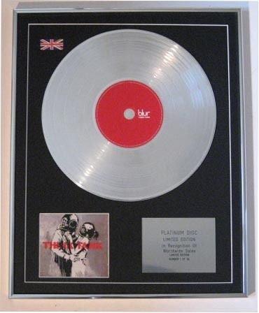 Blur CD Platinum disc- Think Tank