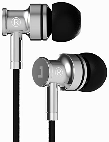 Jayfi JA40 Bass HiFi Stereo In-Ear Kopfhörer Geräuschisolierung Ohrstöpsel Ohrhörer aus Gesundem Metall mit Mikrofon Schwarz (Klavier-musik-iphone 6 Fall)