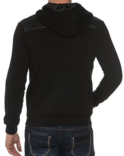 BLZ jeans - Gilet Sweat Noir Bi-Matière Noir