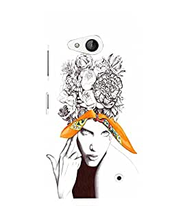 EPICCASE Flower & Tear Mobile Back Case Cover For Microsoft Lumia 550 (Designer Case)