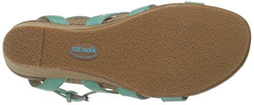 Softwalk Jacksonville Breit Leder Keilabsätze Sandale Green