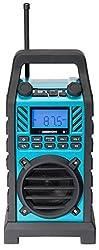 MEDION LIFE E66263 Baustellenradio mit Spritzwasserschutz, Netz-und Batterie-Betrieb, blau