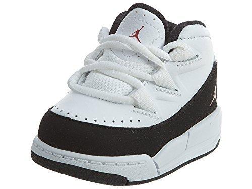 Nike Unisex Baby Jordan Deluxe BT Sneaker, Weiß/Rot/Schwarz (Weiß/Gym Rot-Schwarz), 17 EU (Jordan Babys Schuhe)