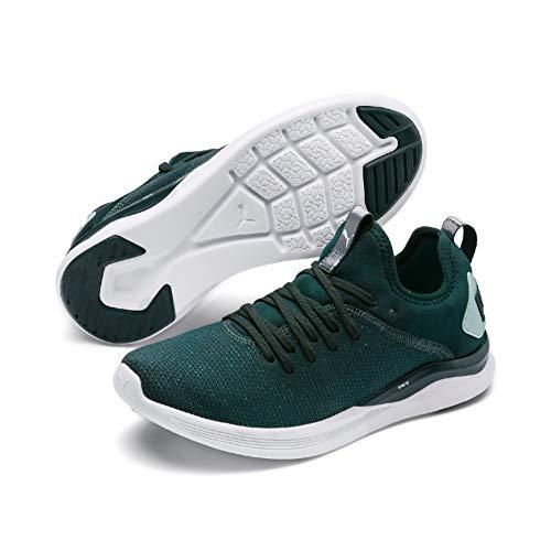 Puma Ignite Flash Evoknit SR Wn's, Zapatillas de Running para Mujer, Verde (Ponderosa Pine-Fair Aqua), 36 EU