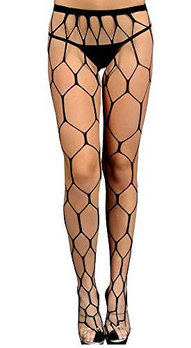 HO-Ersoka Damen Netz-Strumpfhose grobmaschig fencenet schwarz onesize