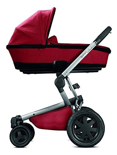 Quinny Buzz Xtra Kombi-Kinderwagen und Sportbuggy (ab der Geburt nutzbar mit Maxi-Cosi Babyschale, automatische sekundenschnelle Aufklappfunktion und robuste Reifen für jedes Gelände) rot