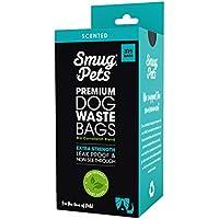SmugPets - 315 sachets à déjections Canines - parfumés/antifuites/épais/Grands - 21 Rouleaux