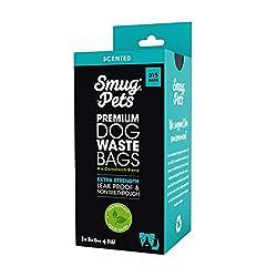 SmugPets - 315 Premium-Hundekotbeutel - auslaufsicher - mit Duft - 21 Rollen à 15 - extradick & -groß