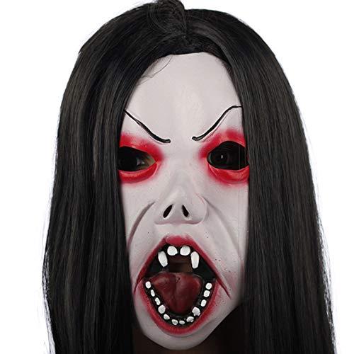 JTWJ Halloween Latex Maske Horror Ghost Gesicht Make-up Kopfbedeckungen