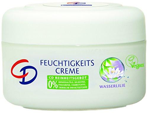 CD Feuchtigkeitscreme Wasserlilie 200 ml / Creme für normale und empfindliche Haut im 6er Vorratspack (6 x 200 ml) / VEGAN