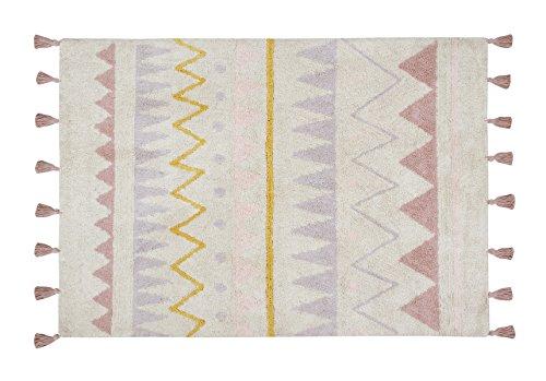 Lorena Canals – Alfombra Azteca Natural, Lavable, de algodón, Color Nude Vintage (120x160x30cm)