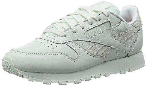 Reebok Classic Leather Spirit, Chaussures de Course Femme Blanco / Plateado (Philosophic/White/Energy)