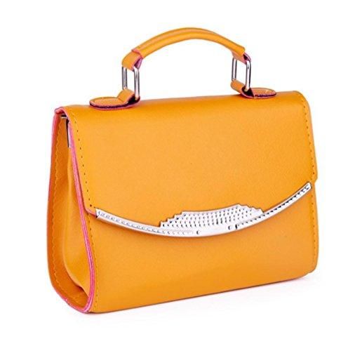 GBT Frauen-Schulter-Beutel-Handtasche Yellow