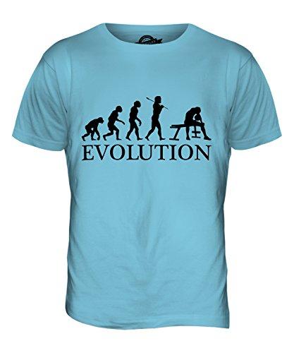 CandyMix Bizeps Curl Evolution Des Menschen Herren T Shirt Himmelblau