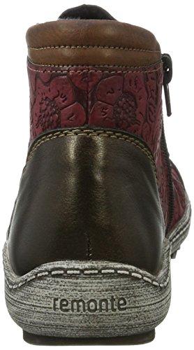 Remonte Damen R1482 Sneaker Rot (Antik/wine/brandy / 35)