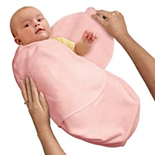 SwaddleMe B1P Frühchen/Baumwolle/rosa - Ganzkörper-Pucksack ist ideal bei Schreibabys. Preemie.