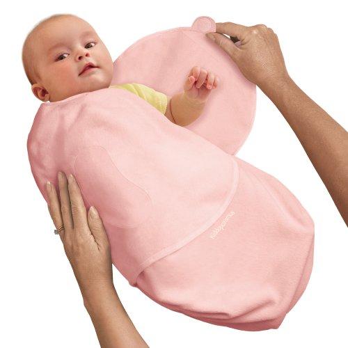 SwaddleMe B2P Neugeborenes/Baumwolle/rosa - Ganzkörper-Pucksack ist ideal bei Schreibabys. Small.