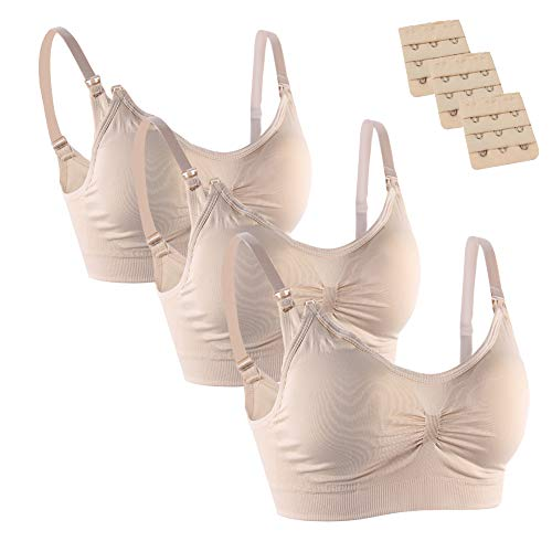 FeelinGirl Damen Still-BHs Pack Schwangerschaft Still  M: 70D-75C Nude / ()