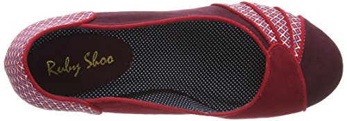 Ruby Shoo Maggie, Court shoes - femme Rouge (Red)