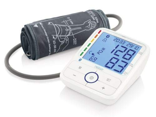 SILVERCREST Oberarm-Blutdruckmessgerät Pulsmessung Bluetooth LC-Display SBM68