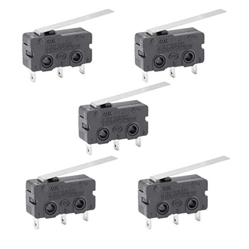 ZCHXD 5pcs G605-150S03A Micro Limit Switch Button SPDT Momentary Snap Action (Switch Snap-action)