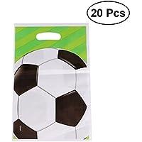 Toyvian 20 unids Bolsas de Fútbol Favor de Partido Bolsas de Bolsas de Regalo de Caramelo Bolsa de Regalo Suministros de Fiesta de Cumpleaños para Niños