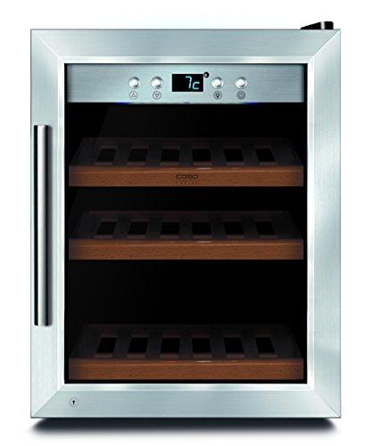 CASO WineSafe 12 Classic Design Weinkühlschrank für bis zu 12 Flaschen (bis zu 310 mm Höhe), eine...