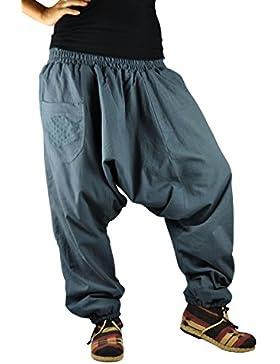 virblatt pantalones cagados con patrón reversible con entrepierna mediana profunda talla única Unisex S - L pantalones...