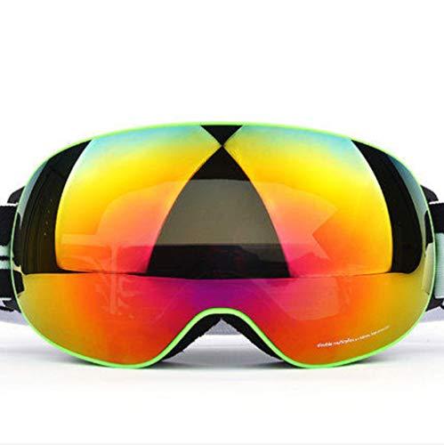 XY&CF-Ski glasses Skibrille Anti-Fog Doppel Skibrille Ausrüstung für Männer und Frauen große sphärische Khaki Myopie (Farbe : B)