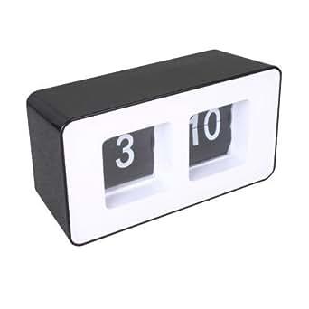 Pendulette Flip Flap(Black desktop Clock)