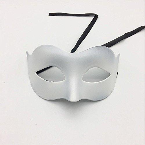 Masken Gesichtsmaske Gesichtsschutz Domino falsche Front Glamour Men Maske Halloween Make-up Abschlussball Maske Damen Volltonfarbe Minimalistisch Half Face Zorro Maske Maske Weiß