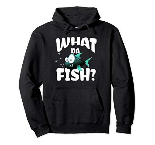 Lustiges Geschenk für Angler mit dem What da Fish Pullover Hoodie