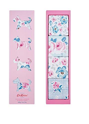 Cath Kidston Wild rose & Quince saponi profumati, 50g, confezione da 4