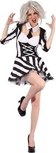 Tote Psycho - Halloween Erwachsene Kostüm (Für Kostüm Beetlejuice Frauen)