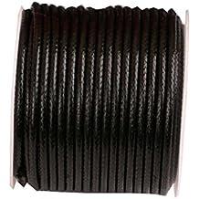 (2mm) 32ft Rotonda Corda in pelle Cord Cord Spool per bracciale collana Making - H