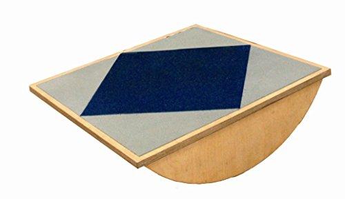 Wippbrett 60x60 cm, Holz - Set