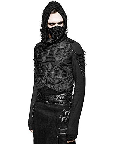 Punk Rave Decay Sudadera Capucha Hombre Negro Gótico Dieselpunk...