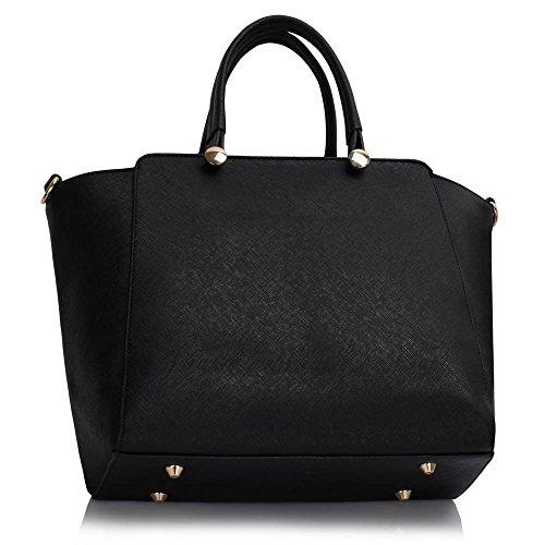 TrendStar Frauen Handtaschen Damen Entwerfer Taschen Schulter Imitat Leder Mode Für Leinentrage Taschen Schwarz/Weiß/Rot